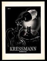 Chateau Duhart Label AD 1928 Wine Candlelight Decanted Eljanvic B/W Art ... - $18.99