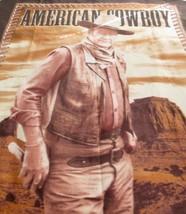 John Wayne The Duke American Cowboy Plush Fleece Throw Blanket 58 x 50 L... - $53.02 CAD