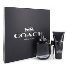 Coach New York 3.4 Oz EDT Spray + Shower Gel 3.4 Oz + EDT Spray 0.25 Oz Gift Set image 2