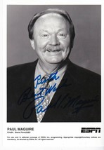 PAUL MAGUIRE AUTOGRAPHED 5 X 7 PHOTO CHARGERS - BILLS - ESPN, NFL INSCRIBED - £6.23 GBP