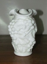 Vintage Imperial Glass ~ Milk Glass Vase Grape Cluster Grapevine 1960s G... - $12.50