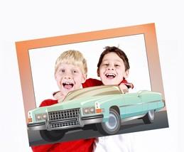 Cabriolet Car Selfie Frame Custom Cartoon Photo Booth Prop Auto Party Decor USA - $15.83+