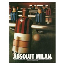 ABSOLUT MILAN Vodka Magazine Ad NOT TOO COMMON! - $9.99
