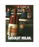 ABSOLUT MILAN Vodka Magazine Ad NOT TOO COMMON! - $9.99