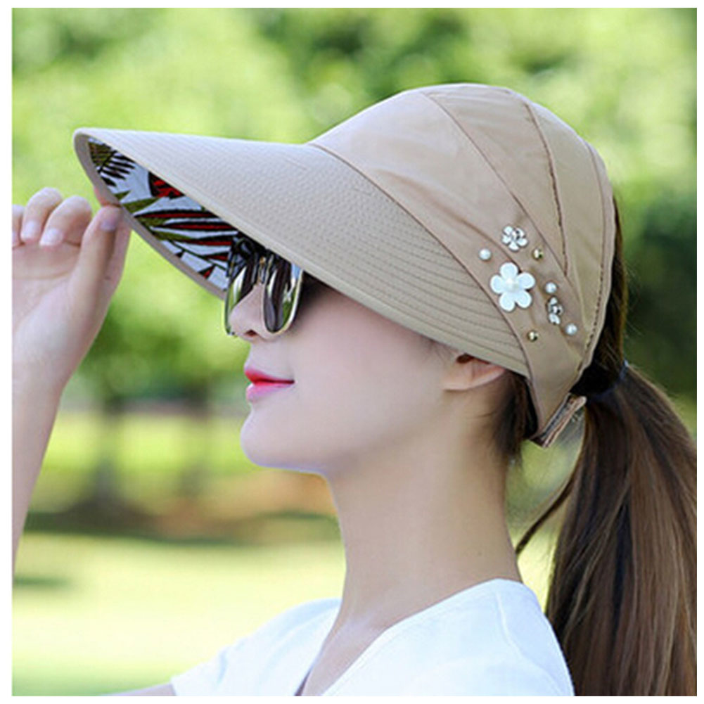 Summer Style Women Foldable Wide Large Brim Floppy Beach Gorro Hats Chapeu Outdo image 3