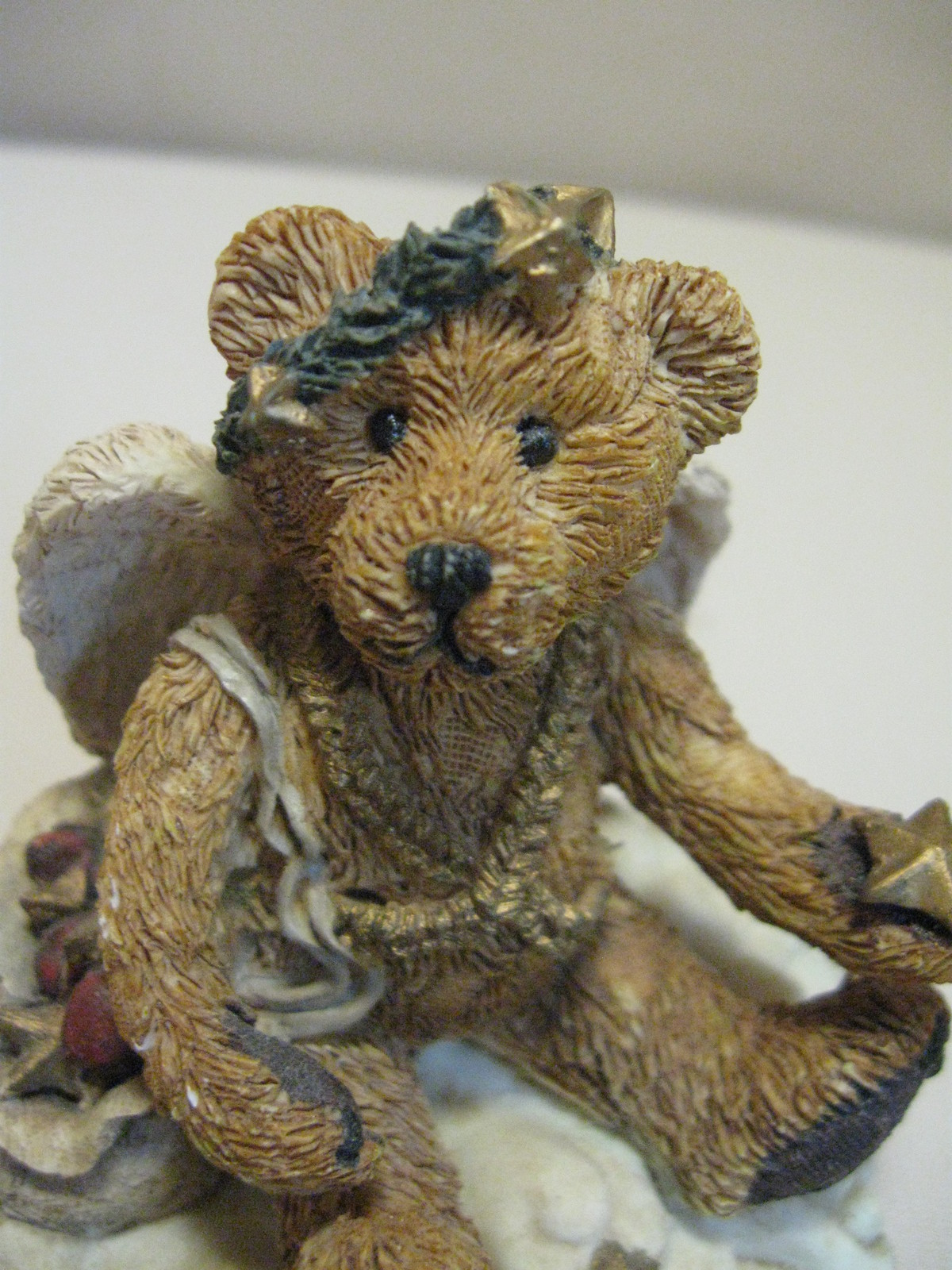 Figurine Boyds Bear & Friends Clarence Angel Bear With Star #2029-11 Retire 1993 image 6
