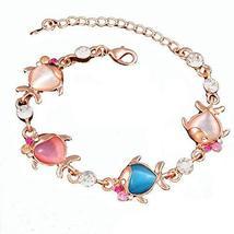 Bracelet Jewelry Fashion Heart-shaped Rose Gold Bracelet Hand Jewelry Amethyst