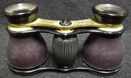 Antique B. & N. Jena Leather Clad Opera Glasses with Original Case - $99.00
