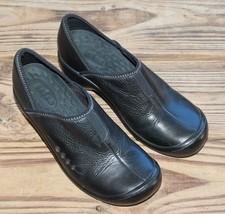 Clarks Size 7.5 Privo Apex Women's Black Leather Slip-On Loafer Clogs 76002 - $23.74