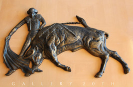 MID CENTURY MODERN SPANISH MATADOR WALL ART! BULLFIGHTER SCULPTURE EAMES... - €463,39 EUR