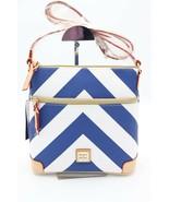 NWT Dooney & Bourke Blue White Chevron Print Crossbody Bag Purse New - $148.00