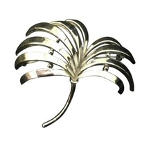 Vintage Trifari Silver Toned Large Brooch Tree Signed Costume Jewelry Pin - $35.63
