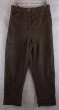 Talbots Stretch Dark Green Chino Pants Size 12 Petites  Side zip pocket 32 X 28 - $12.82