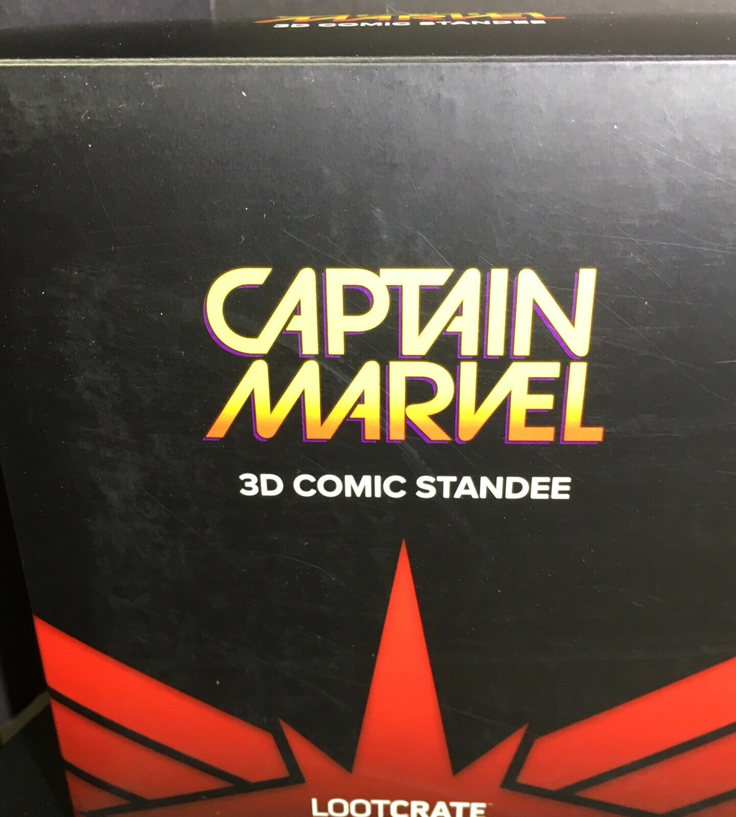 Captain Marvel 3D Comic Standee Loot Crate Exclusive March 2019 Brie Larson
