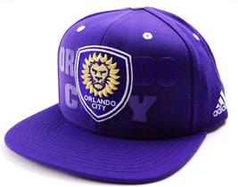 Orlando City SC Adidas NZP50 Academy MLS Soccer Team Snapback Cap Hat OSFM - $20.85