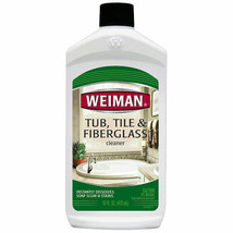 Weiman Tub, Tile & Fiberglass Cleaner 16oz  - For Soap Scum & Stains    NEW - $14.95