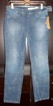 DKNY LEGGING Jeans Mid Rise Pull On Waist Super Slim Leg Size 10 New - $39.59
