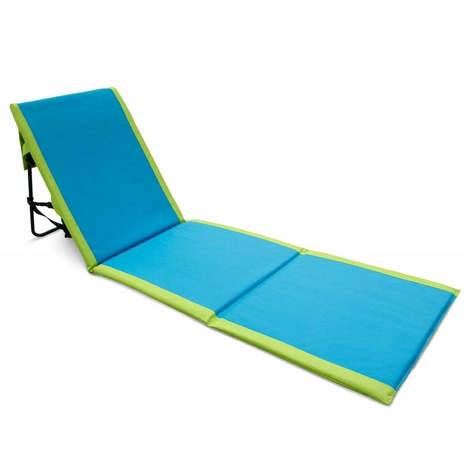 Beach Lounge Chair Portable Ocean Sand Mat Camping Sleeping Sunbathing Backpack