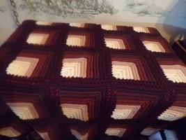 Beautiful Handmade Crocheted Afghan/lap blanket-Brown Colors - $32.18