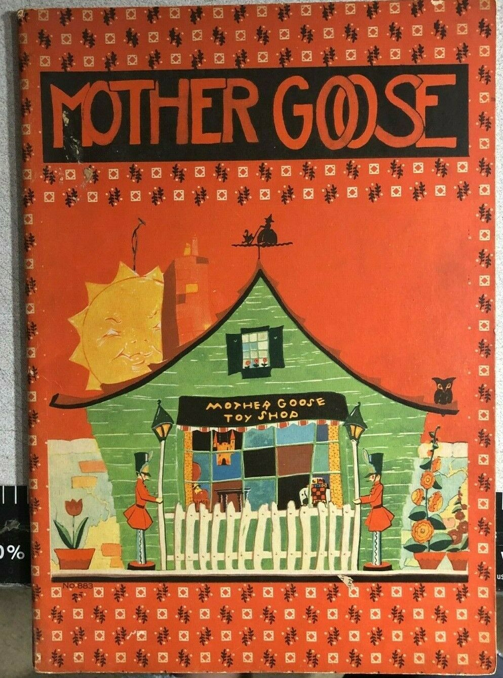 Primary image for MOTHER GOOSE (1932) Saalfield oversize illustrated softcover book