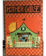 MOTHER GOOSE (1932) Saalfield oversize illustrated softcover book - $17.81