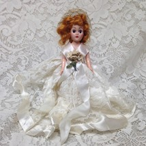 Vintage, 1950s 8in  Plastic Doll in Bridal Gown - $11.35
