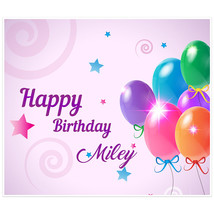 Purple Balloons Personalized Birthday Banner - $38.12