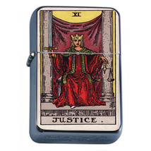 Tarot Card D12 Windproof Dual Flame Torch Lighter XI Justice - $12.82