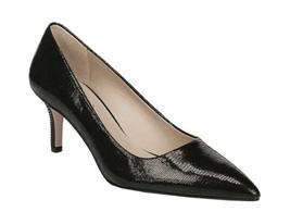 Women's Franco Sarto Tudor Pointed Toe Pump Black Metallic Leather - $122.81