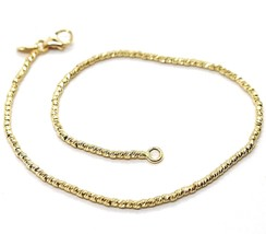 18K Yellow Gold Bracelet With Finely Worked Spheres, 1.5 Mm Diamond Cut Balls - $179.55
