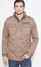 TIMBERLAND MEN'S CROCKER MOUNTAIN M65 JACKET LIGHT BROWN SIZE L - $144.16