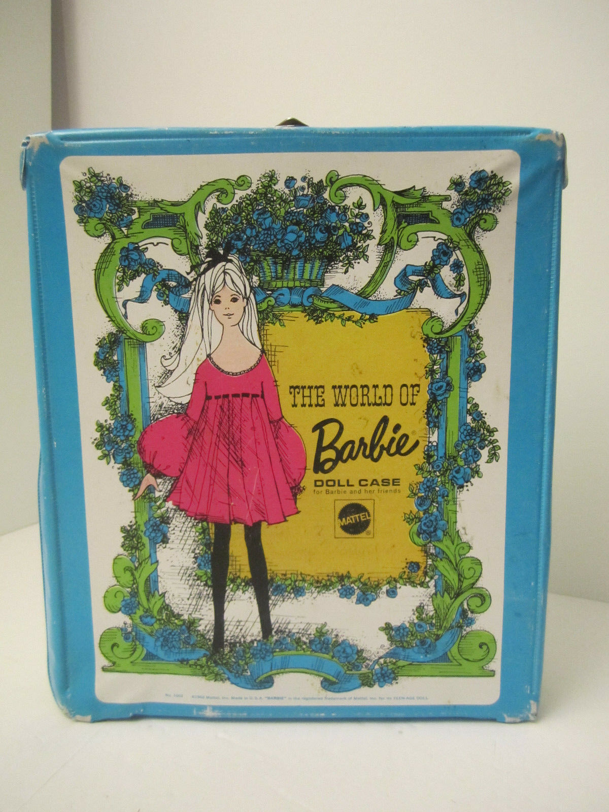 The World Of Barbie Doll Case 1002 Blue Vintage 1968 Doll Carrying Case