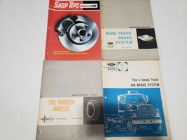 Lot of 4 Ford Mechanic Service Manuals- Brake Systems & Tire Analysis - $29.69