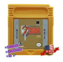 Legend of Zelda Link's Awakening DX  Game Boy Color GBC - Custom Gold Re... - $18.95