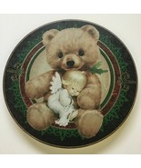 "Loving Bear Angel Baby Girl Round Tin Metal Container 10"" - $9.72"