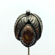Old Native American 925 Sterling Silver Fire Agate Stick Pin FREE Shipping - $39.59