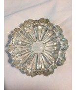 """VINTAGE ANCHOR HOCKING """"OLD CAFE""""(?) SMALL CRYSTAL CLEAR GLASS 3.25"""" 4"""" ... - $9.89"""
