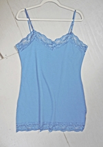 Plus Size Camisoles, Plus Size Camisole, Plus Size Lace Camisoles, Blue, Womens