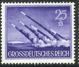 1944 WWII Wehrmacht Rockets Germany Postage Stamp Catalog Number B268 MNH