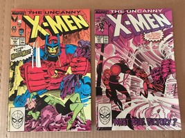 Uncanny X-Men #246 & 247 Marvel Comic Book Lot from 1988 VF+/NM Condition - $6.29