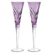 "Wedgwood Vera Wang Duchesse Encore Lavender Toasting Flute, Pair New 10"" - $128.69"
