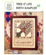 Tree O' Life Birth Sampler Rosewood Manor Cross Stitch Pattern Leaflet - $3.58