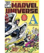 Official Handbook of the Marvel Universe Comic Book #1 VFN/NEAR MINT 198... - $4.99