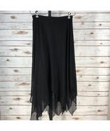 Women's Tadashi Black Handkerchief Style Medium Skirt NWT (14213) - $95.79