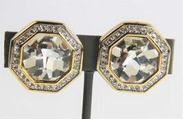 ESTATE VINTAGE Jewelry SWAROVSKI S.A.L. OCTOGON CRYSTAL PAVE RHINESTONE ... - $55.00