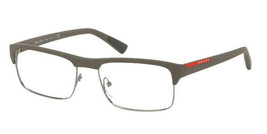 New Prada Eyeglasses PS06FV UR4101 54mm Sport Linea Rossa Brown Rubber Fast Ship - $99.99