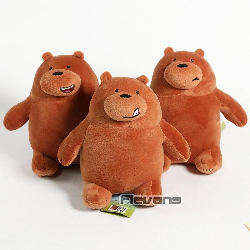 Cartoon We Bare Bears Grizzly Panda Ice Bear Koala Nom Nom Kawaii Plush Toys Sof image 2