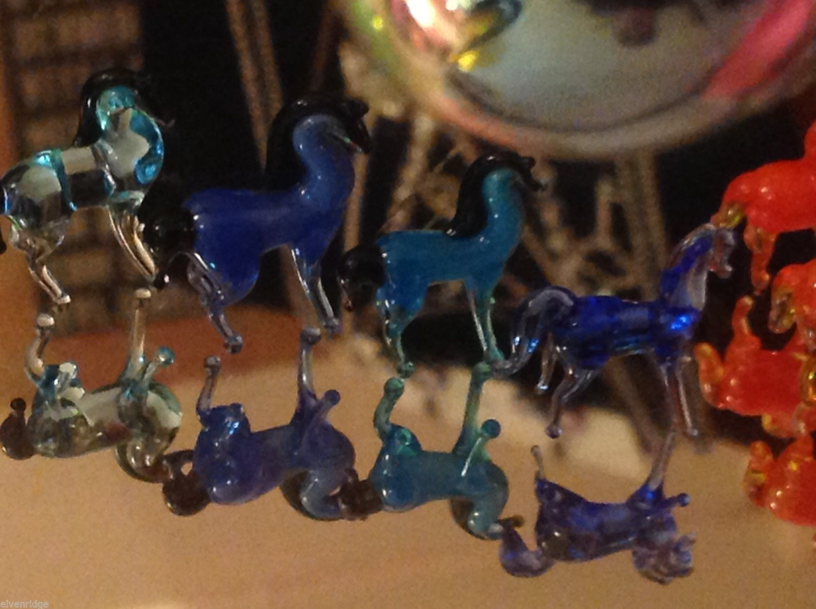 Micro miniature small hand blown glass standing horse in color choice