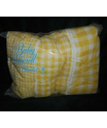 VINTAGE BABY PEPPERELL BLANKET WHITE & YELLOW PLAID ZIPPERED SLEEPING BA... - $36.47
