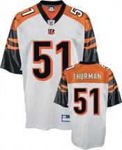 An item in the Sports Mem, Cards & Fan Shop category: Odell Thurman Cincinnati Bengals Replica Jersey Reebok NWT medium NFL Who Dey